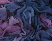 Hand dyed cotton scrim - dark blue, navy blue, cobalt, purple, violet