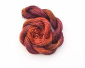 Hand dyed cotton perle 8 embroidery yarn, 30m skein - copper, rust, brown, blackcurrant