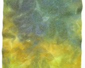 Hand dyed viscose and wool felt - dark green, dark blue, olive green, dark yellow