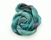 Hand dyed stranded cotton embroidery floss, 20m skein - turquoise, grey, blue grey, purple, pink