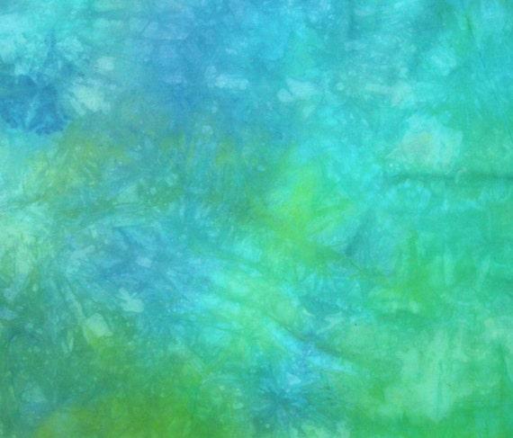 Hand dyed cotton fat quarter - tropical sea
