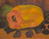 Still Life with Papaya