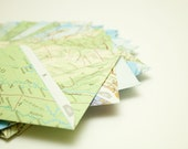 Upcycled atlas envelopes - Set of 10 - Size medium