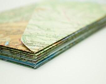 Set of 10 handmade atlas envelopes - STANDARD SIZE