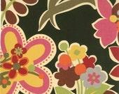 1 yard---Poppy Field in Black, Oz, Sanae, Moda Fabrics