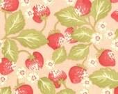 SALE--1 yard---Strawberry Fields in Rose, Strawberry Fields, Fig Tree Quilts for Moda Fabrics