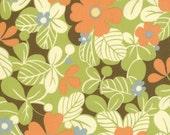 SALE---1 yard---Flower in Nest, Freebird by Momo, Moda Fabrics