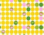 SALE---1 yard---Elephant Dots in Spring, Urban Circus, Laurie Wisbrun for Robert Kaufman Fabrics