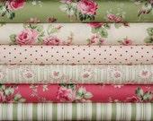 Barefoot Roses half yard bundle--6 pieces---3 yards total--Tanya Whelan for Free Spirit Fabrics