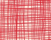 Summersville---Metro Check Weave in Red---1 yard--Lucie Summers for Moda Fabrics