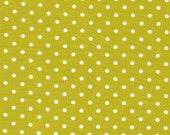 ON SALE---1 yard---Speckle in Grass, The Maman Collection, 100 percent cotton organic fabric, Cloud 9 Fabrics