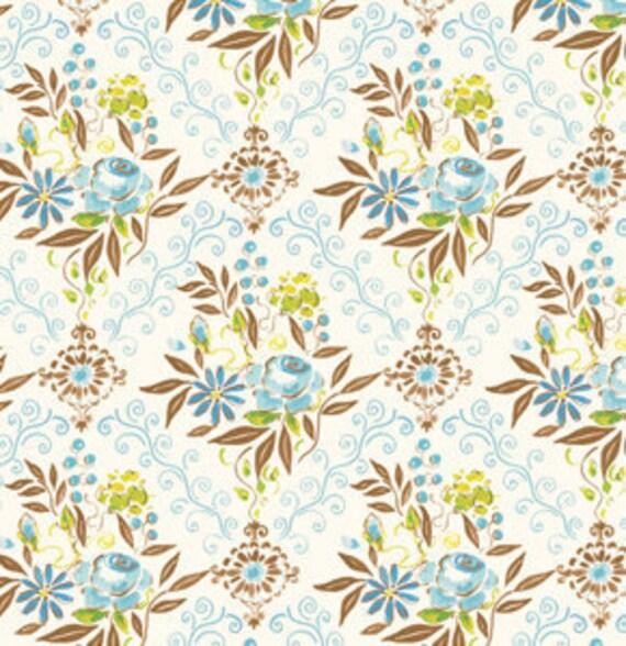SALE---1 yard---Kensington in Blue, London, Dena Designs, Free Spirit Fabrics
