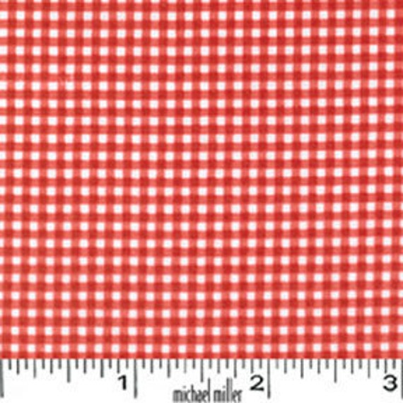 1 yard---Tiny Gingham in Red,  Mini Mike's, Michael Miller Fabrics