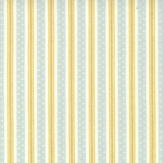 ON SALE---California Girl---Bermuda Ticking in Ocean--1 yard--Fig Tree Quilts for Moda Fabrics