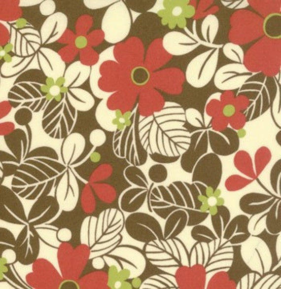 SALE---1 yard---Flower in Ivory, Freebird by Momo, Moda Fabrics