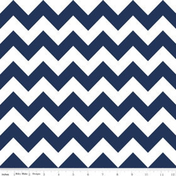Chevron in Navy---1 yard---Riley Blake Fabrics