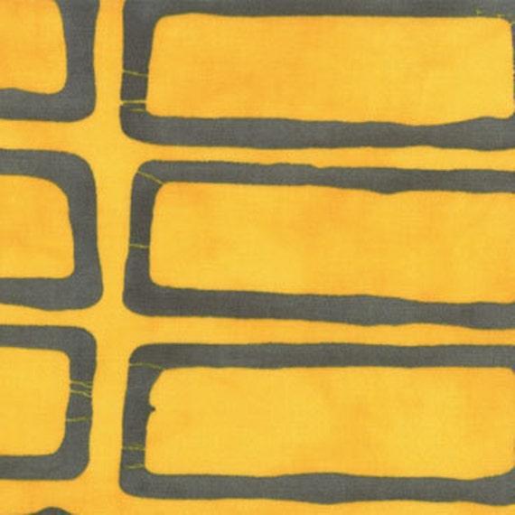 SALE---a stitch in color--yellow steel--1 yard--malka dubrawsky for moda fabrics