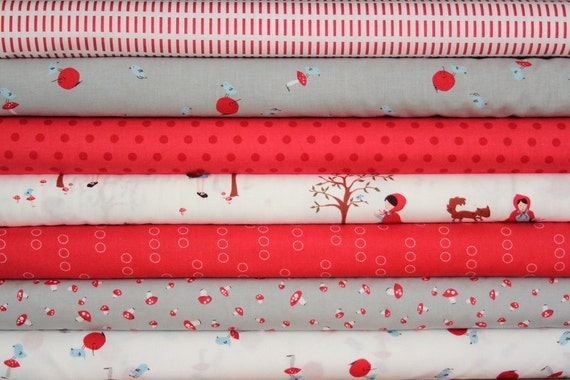 a walk in the woods half yard bundle--7 pieces--3-1/2 yards total--aneela hoey for moda fabrics