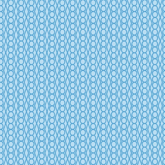 SALE---1 yard--Jewels in Basra Blue, 1001 Peeps, Lizzy House for Andover Fabrics