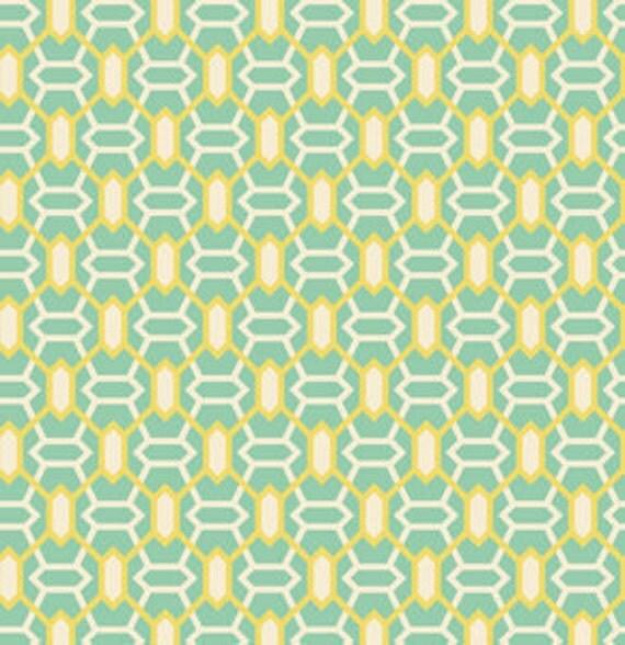 SALE---1 yard---Marquis in Jade, Heirloom, Joel Dewberry, Free Spirit Fabrics