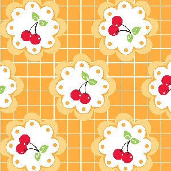 SALE--1 yard--5581-44, Cherry Fizz, Barbara Jones of Quilt Soup for Henry Glass Fabrics