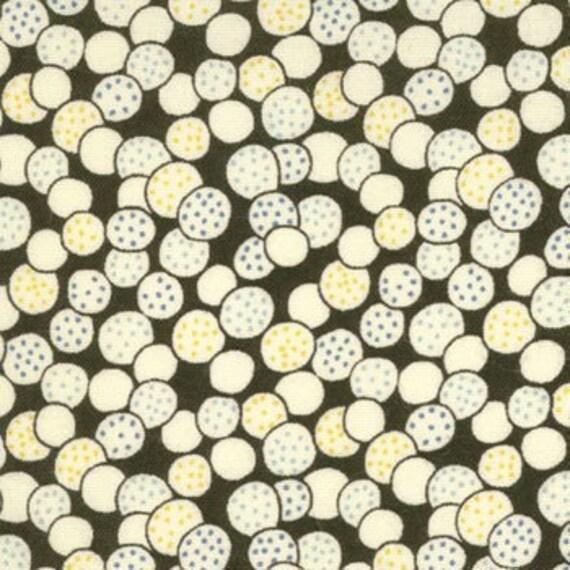 SALE---1 yard---Dots in Black, Punctuation, American Jane for Moda Fabrics