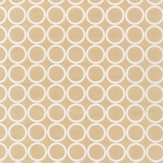 1 yard---Circles in Tan, Metro Living, Robert Kaufman Fabrics