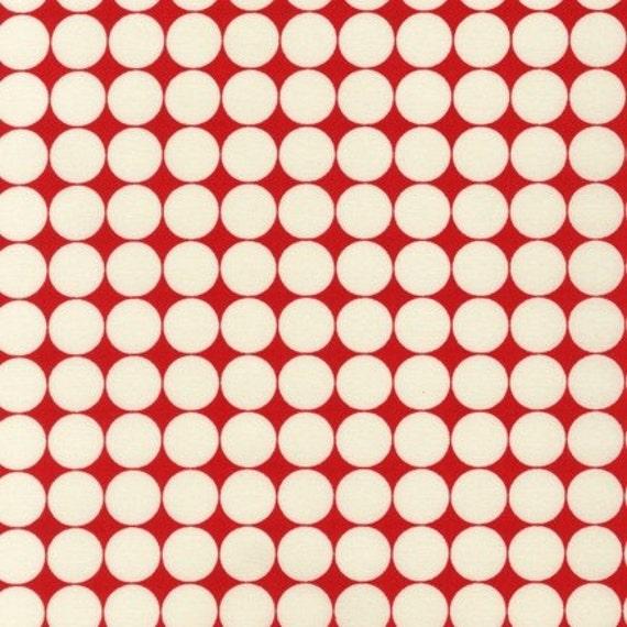 1 yard---Dots in Red, Metro Living, Robert Kaufman Fabrics