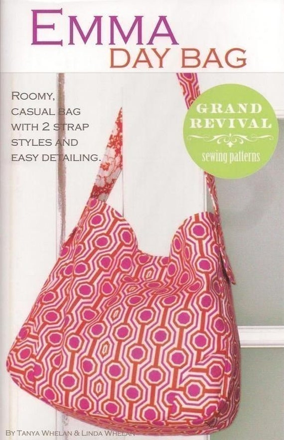 FREE SHIPPING with fabric purchase---Emma Day Bag Pattern from Tanya Whelan for Grand Revival Designs