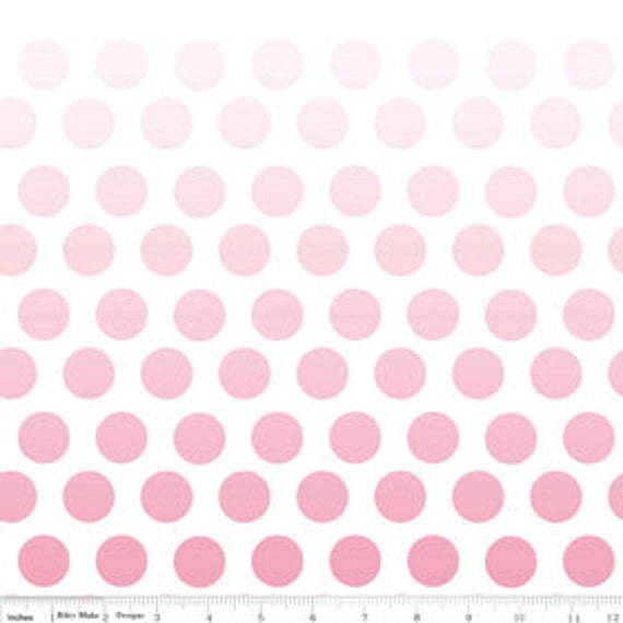 Ombre Dots---Hot Pink---1 yard--Riley Blake