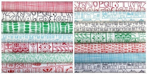 Summersville fat quarter bundle--14 pieces---3-1/2 yards total--Lucie Summers for Moda Fabrics