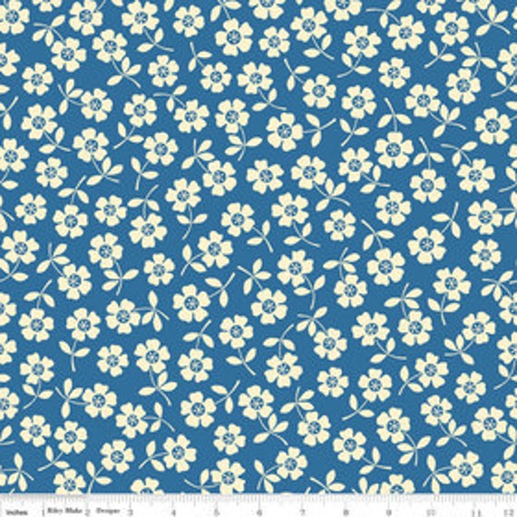Seaside---Bikini in Blue--1 yard--October Afternoon for Riley Blake Fabrics