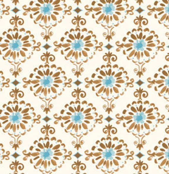 SALE---1 yard---Cotswold in Blue, London, Dena Designs, Free Spirit Fabrics