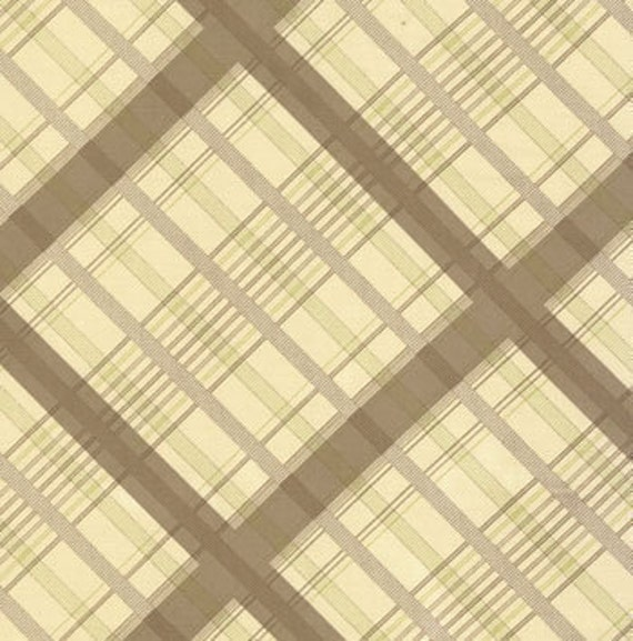 urban cowgirl--plaid in mud--1 yard--urban chiks by moda fabrics