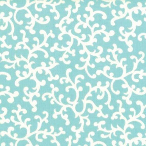 Vintage Modern---Swirl in Aqua--1 yard--Bonnie and Camille for Moda Fabrics