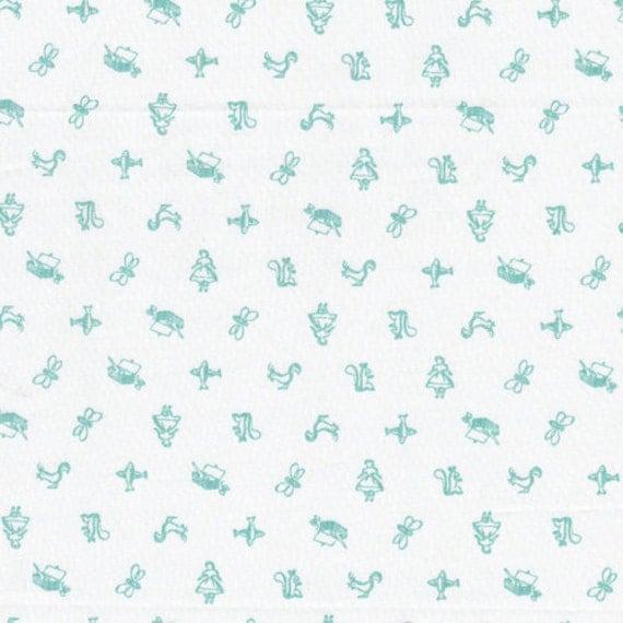 ON SALE---1 yard---Motif Bleu, The Maman Collection, 100 percent cotton organic fabric, Cloud 9 Fabrics