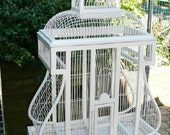 Vintage Antique Wood Wire Shabby Cottage Chic Very Large Birdcage House Rare