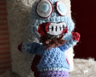 John the Crocheted Zombie Doll