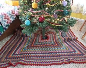CROCHET PATTERN Granny Square Tree Skirt