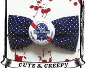 Pabst Blue Ribbon Hair Clip