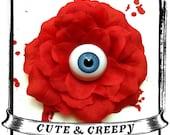 Blue Eyed Ghoul Hair Clip