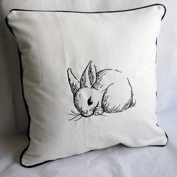 Bunny Sketch Pillow Cover