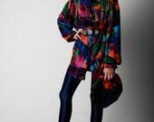 Escada Brightly Colored Silk Blouse