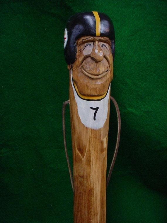 Smiling BIg Ben Hand Carved Walking Stick..