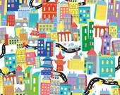 What A World City View White - Clearance 1/2 Yard