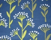 1 Yard Linden Blue Floral Dot Stems