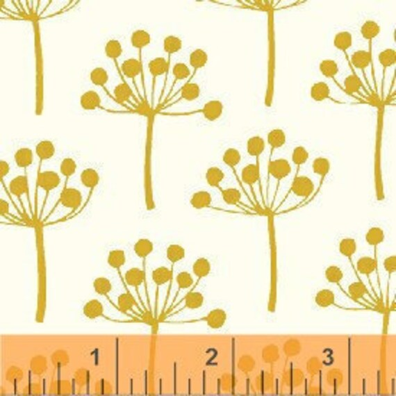 Windham Fabrics Lotta Jansdotter Mini Florine Brass - LAST Yard