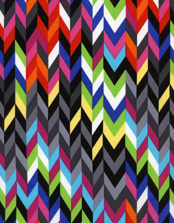 Timeless Treasures Knitting Stripes Multi - 1/2 Yard
