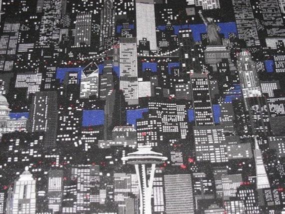 Destash 1 Yard 6 Cities Fabric