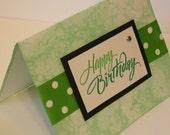 Happy Birthday (Bubble Marbled\/Green) - Blank